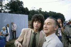 Jimmy Page with his father at Knebworth, 1979
