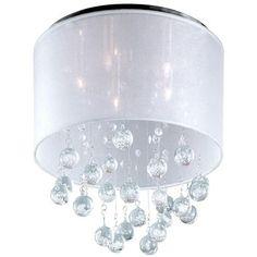 Sheer Shade Crystal Ball Ceiling Light