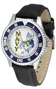 Navy Midshipmen Suntime Competitor Poly/Leather Band Watch - NCAA College Athletics SunTime. $58.95. Officially licensed. 1 year limited manufacturer warranty