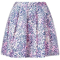 Forever New Charlie Printed Prom Skirt (2.450 RUB) ❤ liked on Polyvore featuring skirts, bottoms, saias, faldas, spotted waves print, blue print skirt, cotton skirts, forever new, blue cotton skirt and blue skirt