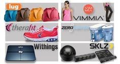 Fitness Gadgets:  A ZeroWater Water Purification System, a Withings Wi-fi Body Scale, SKLZ Training Series, Therafit Shoes by Dr. Lisa, Lug Life Cartwheel Fitness Bag, or a Vimmia Apparel Gift Voucher.