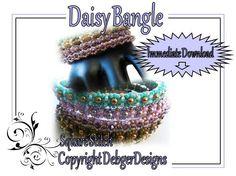 Daisy Bangle -Tila Beading Pattern Tutorial