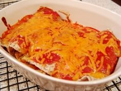 Clean eatingchicken enchiladas - a quick and easy stand-by.  I have tried chicken, chicken and black beans, and black beans only.  All three variations are tasty.