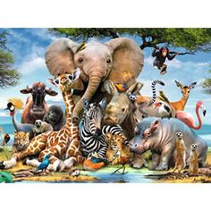 Ravensburger African Friends 300 Piece Puzzle