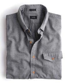 jcrew | mens brushed twill shirt ($75)