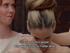 Sex and the City quote. It should be family sometimes it's the people you chose as family.