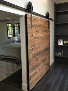 retro design wooden door inside interior modern ambiance design_ideen
