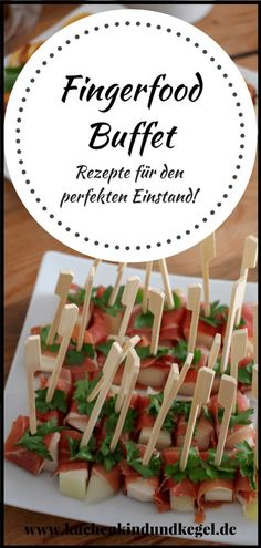 Fingerfood buffet - recipes for the perfect debut! - Fingerfood buffet – recipes for the perfect debut! Fingerfood buffet – recipes for the perfect - Party Finger Foods, Snacks Für Party, Finger Food Appetizers, Appetizers For Party, Fingerfood Party, Healthy Dessert Recipes, Brunch Recipes, Appetizer Recipes, Snacks
