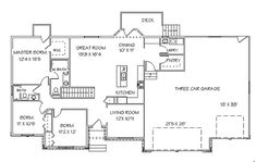 house plans with bedrooms in the basement | Main Floor Plan