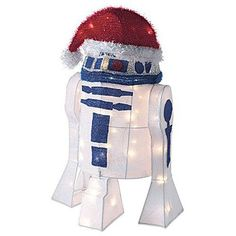 Kurt S Adler Lighted Star Wars Steel Form Covered With Soft Tinsel, Lit With Clear Lights, White Lead Cord. Holiday Lights, Christmas Lights, Star Wars Christmas, Santa Christmas, Decorative Night Lights, Star Wars Decor, 3d Light, Novelty Lighting, Indoor String Lights