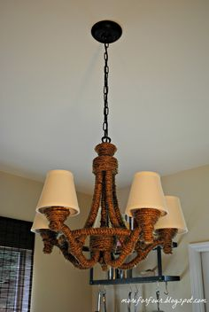 More for Four: DIY Pottery Barn Rope Chandelier