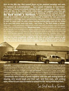 """So God Made A Farmer"""" Poster by Lindsey Staletovich. Now available ..."""