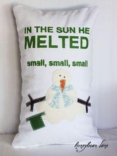 #snowman pillow #christmas