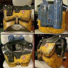Mandalorian chest armor based on Ralph Mcquarrie's Boba Fett concept. Star Wars Clone Wars, Star Wars Art, Lego Star Wars, Star Trek, Mandalorian Cosplay, Star Wars Bounty Hunter, Star Wars Outfits, Shoulder Armor, Ralph Mcquarrie