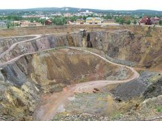 Mining Area of the Great Copper Mountain in Falun, Sweden.