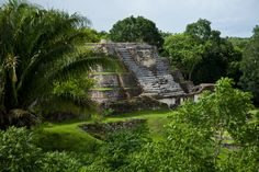 Maya Mayan ruins off the beaten Mexican paths of Chichen Itza in nearby Belize