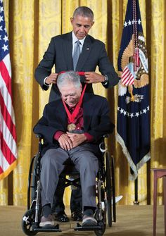 Rudolfo Anaya receiving National Humanities Medal from President Obama, 2016 The Godfather, New Adventures, Obama, Presidents, Brown, New Mexico, Earth, Chocolates, Browning