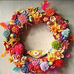 Free Crochet Easter Wreath Pattern