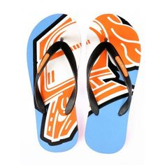 Buy Tangerine Toes Mens Blue Armour Flipflop