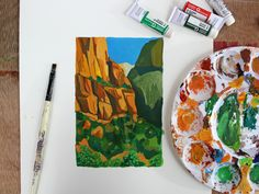 Are you familiar with gouache? If not, this tutorial will help you understand the paint and learn how to create your own landscape using gouache painting.