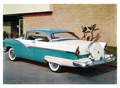 1956 Ford Fairlane Victoria with Continental Spare Wheel Kit