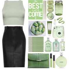 Just green., created by agus-leguizamon on Polyvore