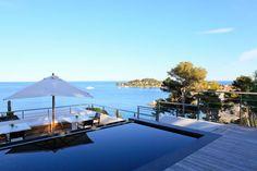 The magnificent view from Villa O on the Cap Ferrat, Cote d'Azur.