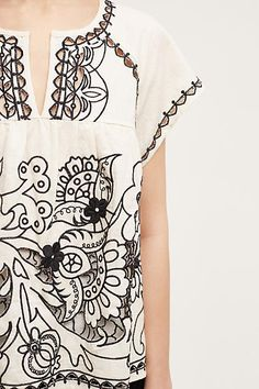 Embroidered Rheya Tee