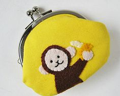 This is so cute, my little monkey would love this coin purse