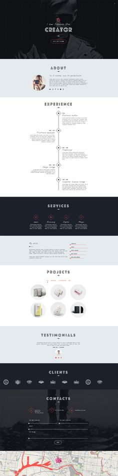 Unica - Personal Resume and Portfolio Theme on Behance
