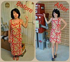 Long to short tank dress
