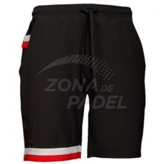 Pantalones cortos de Varlion en color negro y rojo, compuesto por un 96% de Nylon y un 4% Spandex Double Weave, los pantalones de pádel has sido diseñados especiamente para jugar a pádel nos darán la movilidad necesaria para poder llegar sin dificultad a cualquier bola del partido.  http://www.zonadepadel.es/varlion/129-pantal%C3%B3n-corto-retro-negro-rojo.html