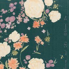 Nani Iro Kokka Fuccra  rakuen Japanese Fabric - Green - Sei-Mei double gauze 50cm on Etsy, $9.50