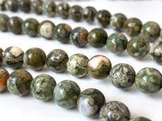 "Gemstone Round Loose Beads 15/"" 8MM Champagne Mystic Aura Quartz Glass"