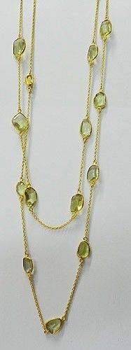 Green Amethyst Bezel vermeil Brass Long chain gemstone Necklace, fashion jewelry #handmade #chain #magicalcollection #Gemstone #necklaceJewelry #sterlingsilver #necklace #brass #goldplated