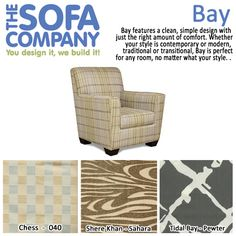 Product of the Week: Bay!  Whether your style is contemporary or modern, traditional or transitional, Bay is perfect for any room, no matter what your style.  #ProductOfTheWeek #AccentChair #TheSofaCompany