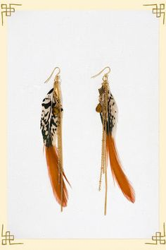 Trying to expand my jewelry collection... fun feather earrings