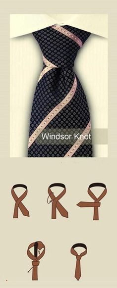 How to tie a Windsor knot for your necktie Double Windsor Tie 525314629