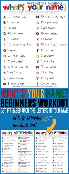 What's your name? workout for beginners. Get moving in a fun and creative way with this fitness routine you can do at home.