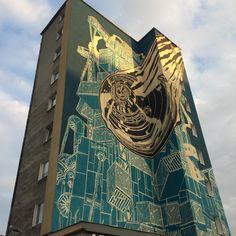 M-City in Gdynia by Mariusz Waras #mural #streetart #contemporaryart #trafficdesignfest #Gdynia