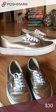 c41c2b7082 I just added this listing on Poshmark  Metallic Gold Vans.  shopmycloset   poshmark