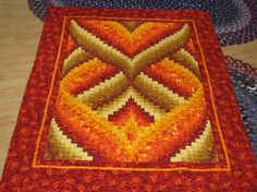 Bargello Lap Quilt from RatherBeeQuilting on Etsy