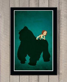 Vintage Disney movie poster - Tarzan by MINIMALISTPRINTS on Etsy https://www.etsy.com/listing/227754735/vintage-disney-movie-poster-tarzan
