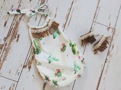 f0e3f312e27 Cactus Romper Floral Romper with Fringe and Lace Boho Baby Girl Outfit Wild  One Birthday Girl Baby Girl Romper Fringe Anklets Baby Girl Gift