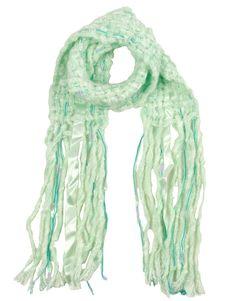 Green Ribbon Detail Tassel Scarf  #ChiaraFashion