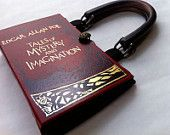 Tales of Mystery and Imagination from Edgar Allan Poe Book Purse-CHOOSE YOUR HANDLE. $45.00, via Etsy.