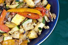 Grilled vegetables usinga  vegetable basket | Rachel's Farm Table