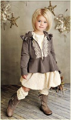 """fall girl:  Persnickety Clothing """" Vintage Woodland """"  Cream Bubble Skirt"""