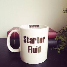 Starter Fluid Coffee Mug Funny Coffee Mug