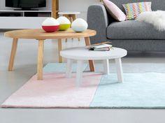 #table #scandinave #couleur #pastel #coussins